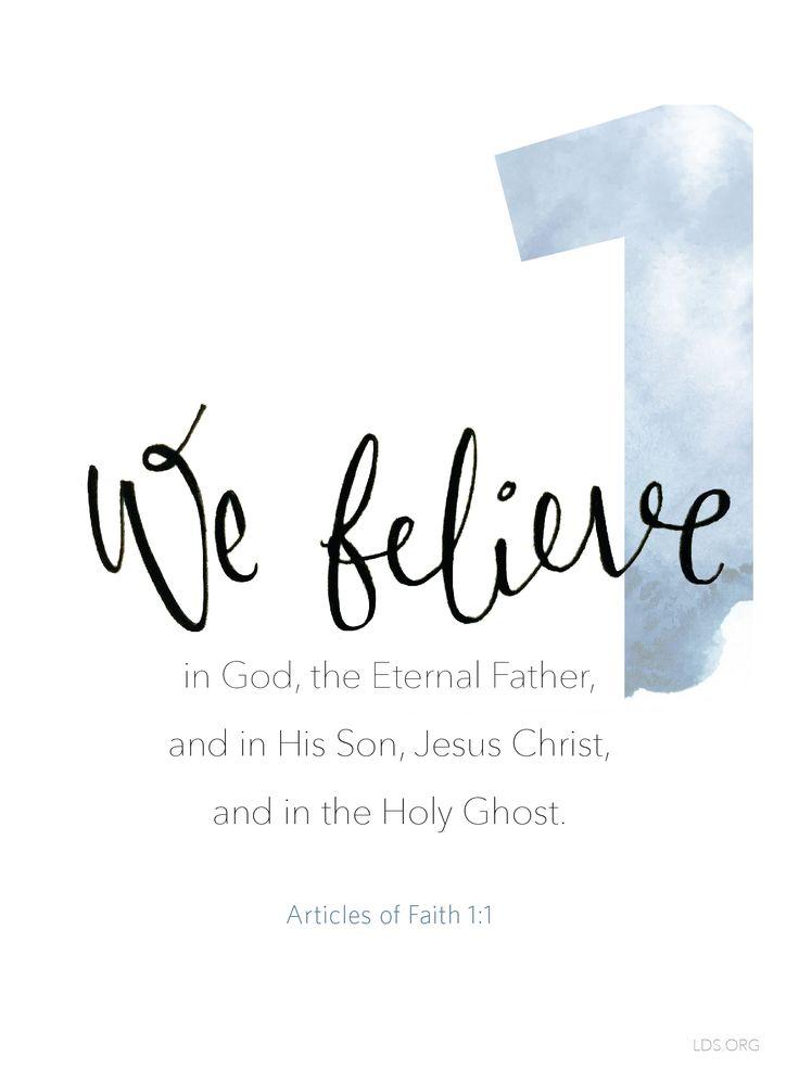 Articles of Faith 1:1  #Faith