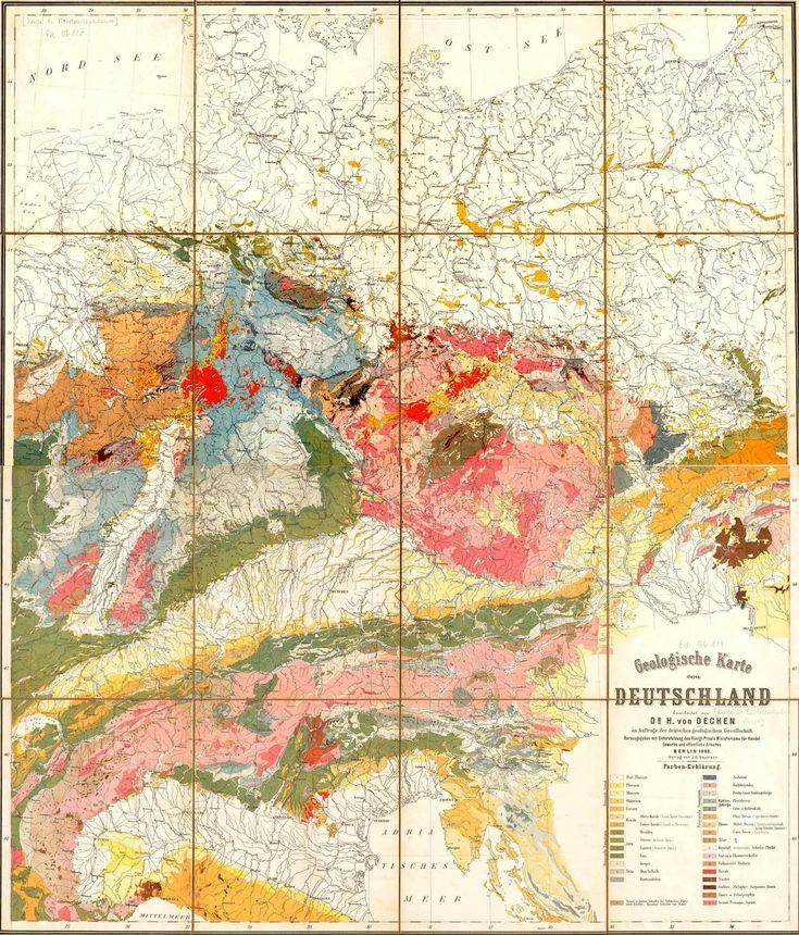 Geological Map Germany 1869 Jpg 1823 2132