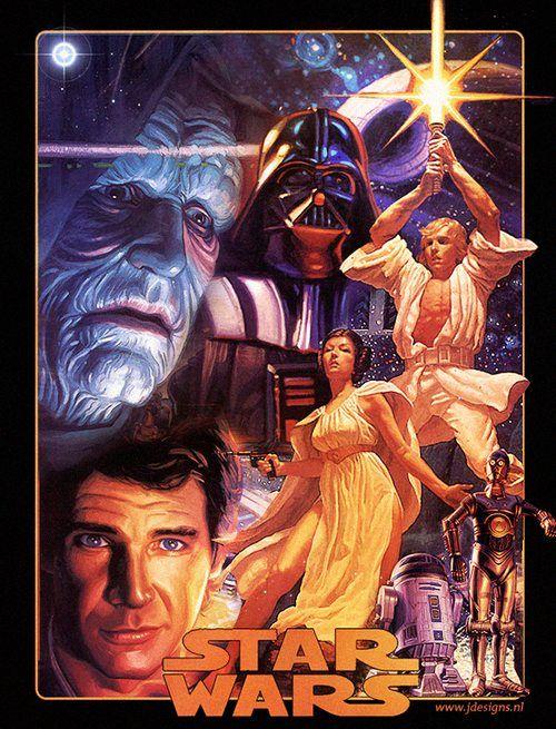 Posters de Star Wars para el cuarto de juegos de un geek