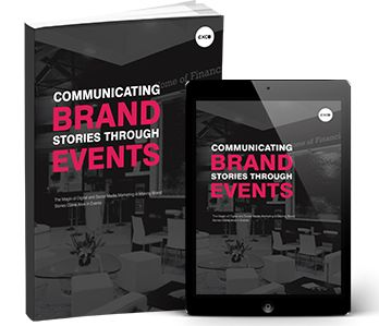 """Events are one of the most powerful marketing strategies to enable your audience to experience your brand. Learn how to effectively connect people with your brand in this eBook on """"Communicating Brand Stories through Events."""" Download it today."""