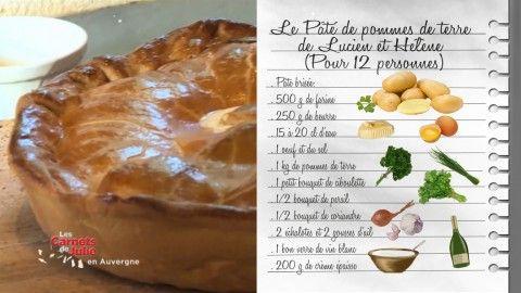 Le Pâté de pommes de terre de Lucien et Hélène (sa grand-mère) - Recettes - Les Carnets de Julie - France 3