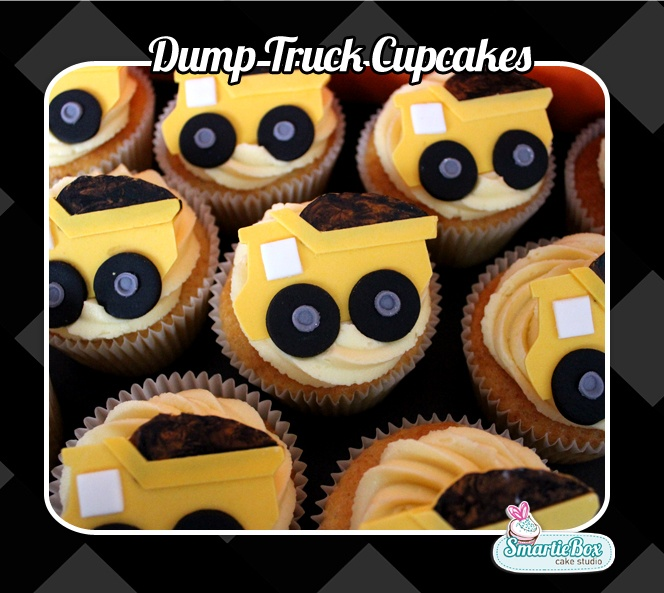 Construction - Dump Truck Cupcake Toppers