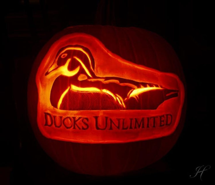 54 best images about ducks unlimited on pinterest for Halloween pumpkin painting templates