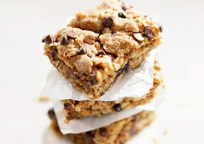 No-Bake Peanut Butter Bars that flatten your belly! Thanks, Prevention Mag.