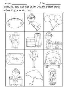 Goods and services worksheet 4th grade