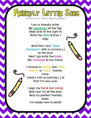 *Teaching Maddeness*: Friendly Letter Song Freebie
