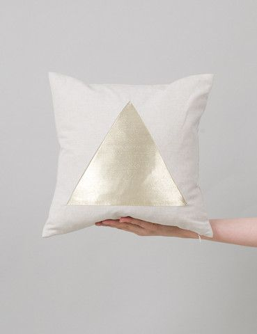 metallic pyramid pillow from jf and son