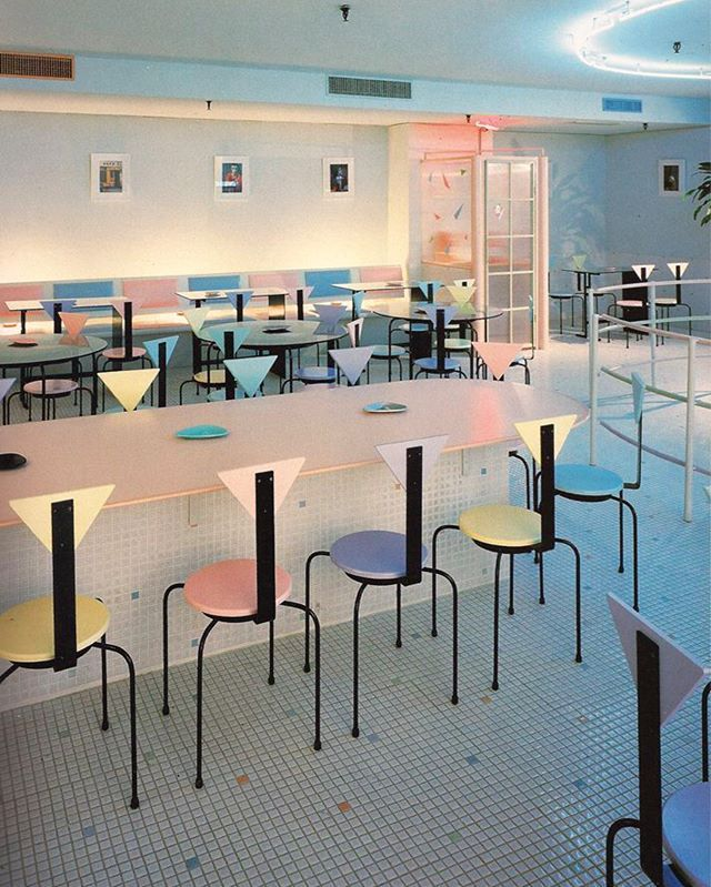 Pierrot cafe in osaka japan poolsidefm 80s 80sdesign for Interior designer 7