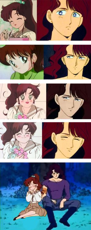 Nephrite & Makoto (Sailor Jupiter) (Sailor moon first anime)