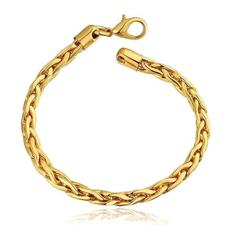 2015 NEW fashion jewerly    gold color   5m crossfit  pulseras mujer women braceletSMTPB088