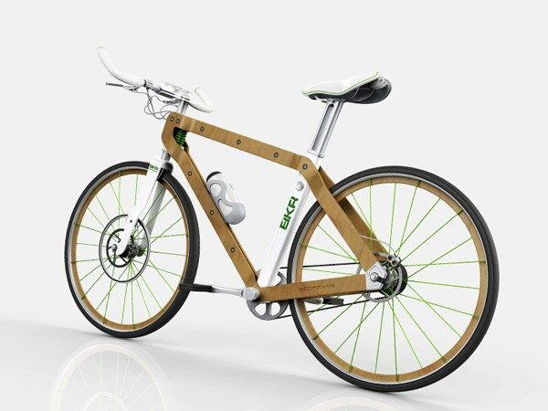 """ The BKR is a concept bicycle that uses wood for its physical and natural proprieties of sustainability, malleability and elasticity."