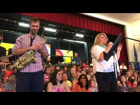 America the Beautiful, performed at Wolcott School Town Meeting - YouTube