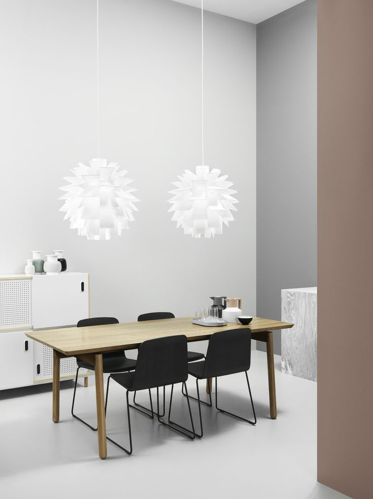 Nyhavn Vases, Just Chair, Norm 69 Lamp, Bop Table