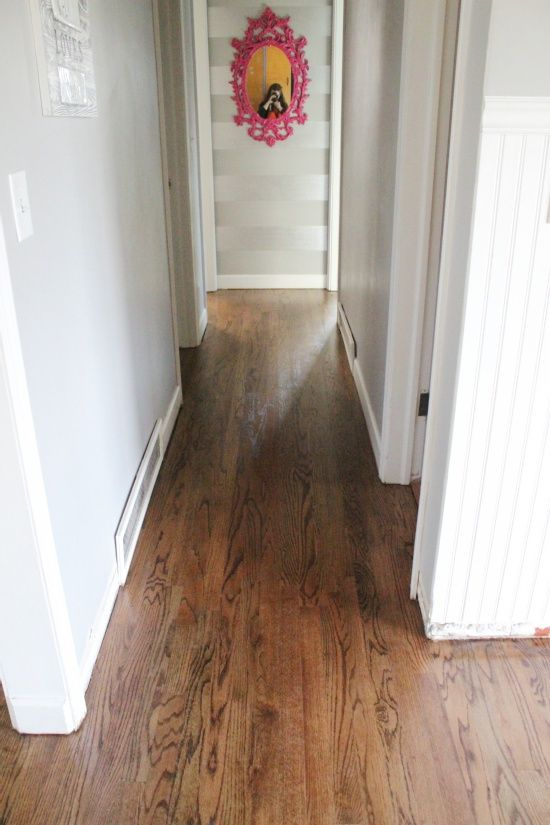50% Dark Walnut  50% Provincial on red oak floors