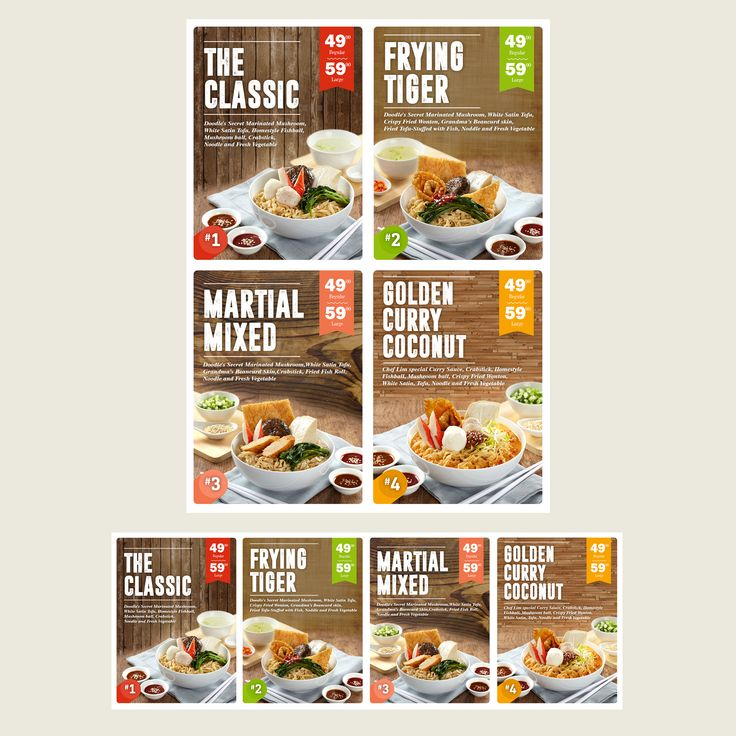 Design #98 By Javier Milla | Menu Board Design For Modern And Hip Noodle Bar