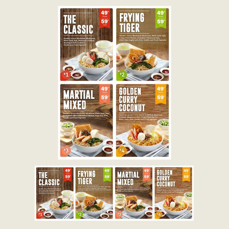 Design #98 by Javier Milla | Menu Board Design for Modern and Hip Noodle Bar                                                                                                                                                                                 More