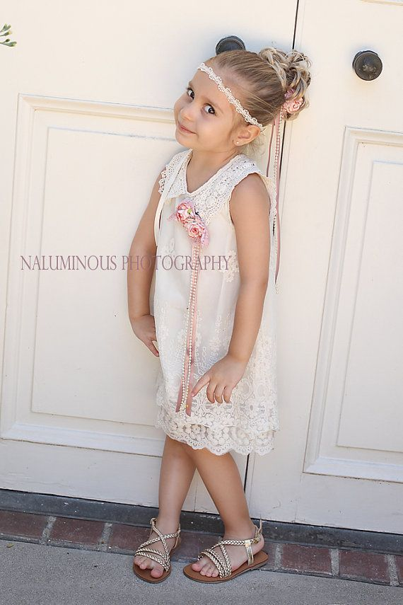 Ivory Lace Dress...Great for Tea Parties by ItsaGirlThingetc, $62.00