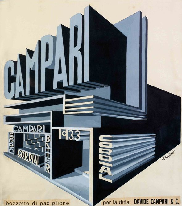 Fortunato Depero - Cartel para Campari (1932)