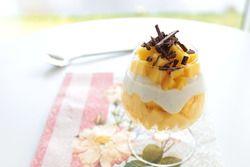 Solskinsdessert med mango og skyr s. 24