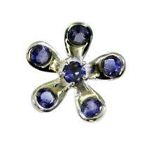 ravishing Iolite Silver Blue Ring gemstones L-1in US 5678