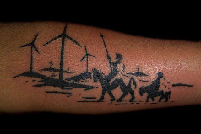 don quijote tatuaje
