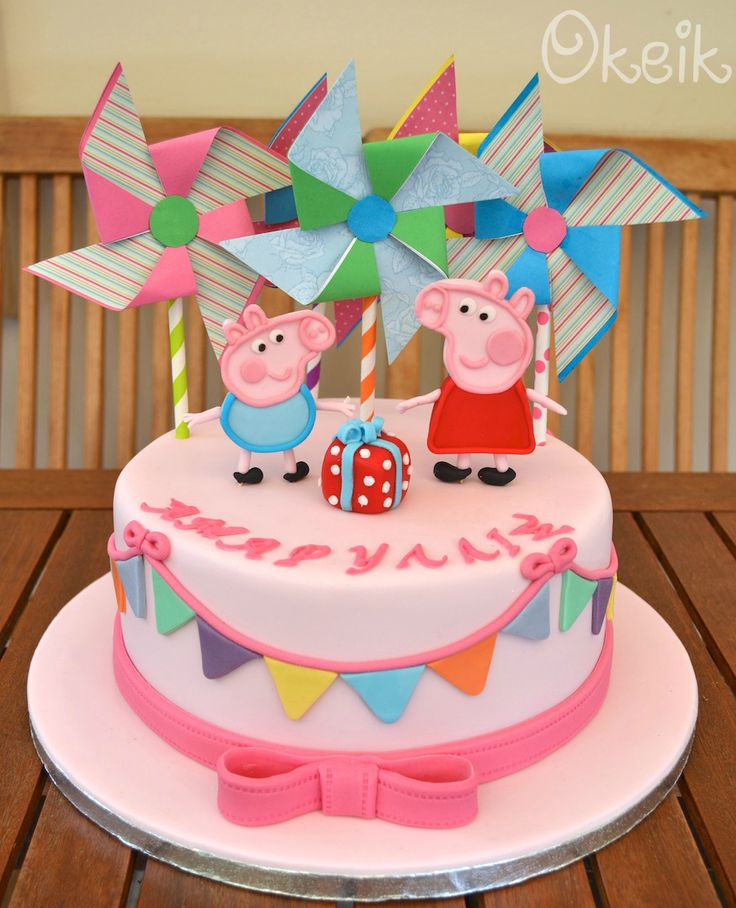 Peppa Pig Birthday Cake Parties In 2019 Peppa Pig