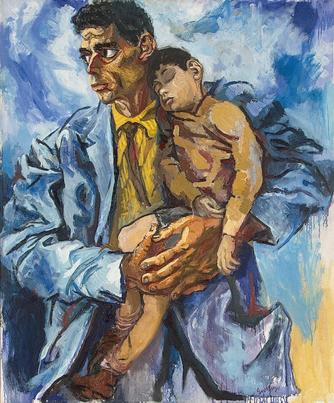 Guttuso, Renato (1912-1987) - 1960 Portrait of Rocco and His Son (The State Hermitage Museum, St. Petersburg, Russia) by RasMarley, via Flickr