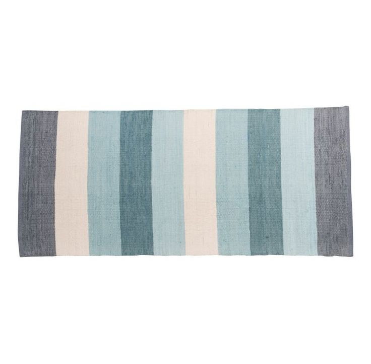 Dywan Sebra tkany w pasy pastel blue (4220)