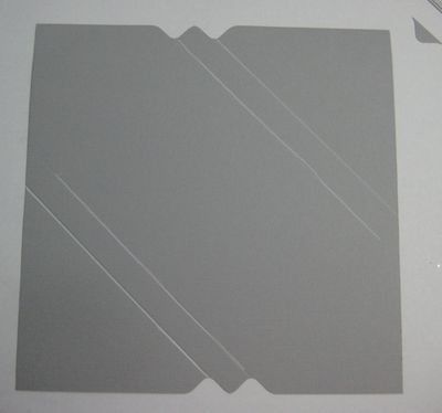 Card box using envelope punch board