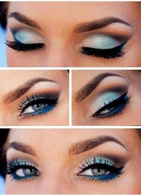Souvent Les 25 meilleures idées de la catégorie Maquillage des yeux bleu  XQ35