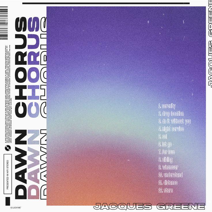 Jacques Greene Dawn Chorus in 2020 Book design