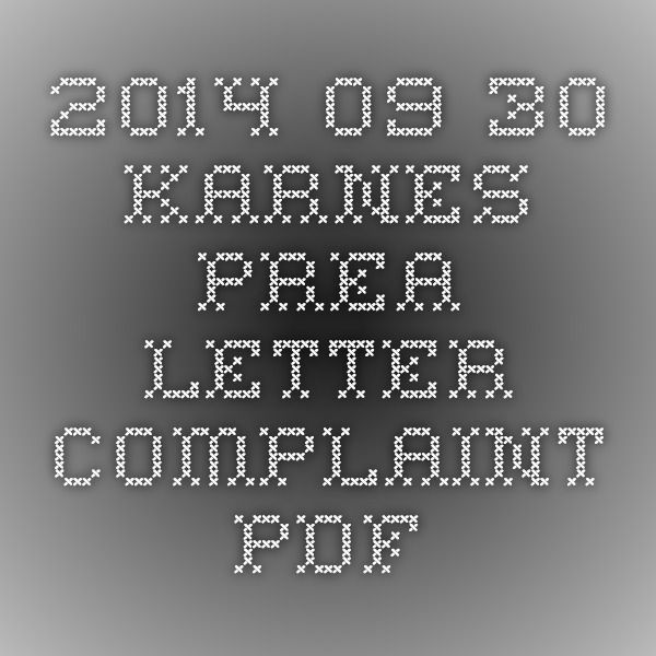 Under Federal law, DHS & ICE must have a written policy mandating zero tolerance toward all forms of sexual abuse...all facilities must have protocols for responding to reports of abuse... 2014-09-30_Karnes_PREA_Letter_Complaint.PDF