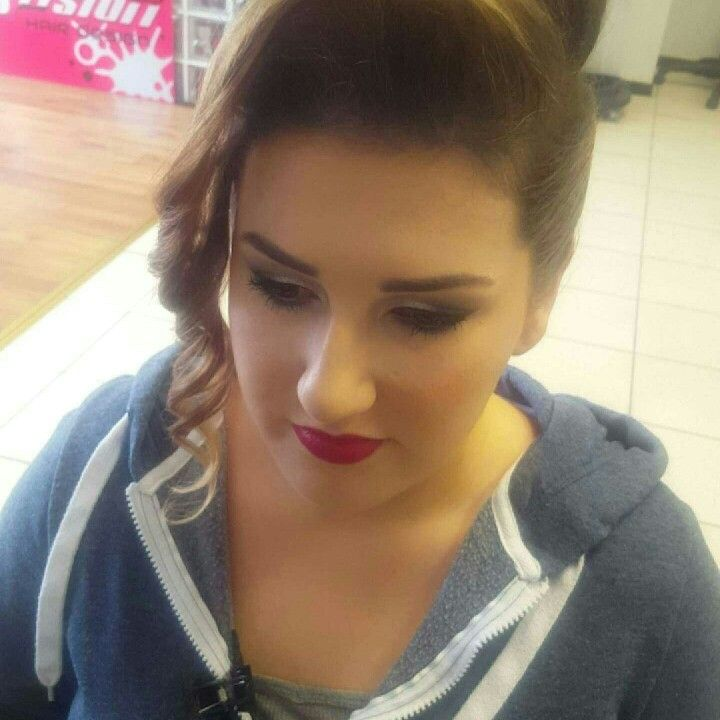 #fusionHDhair&makeup ❤ A trendy upstyle perfect for attending a wedding or for a night out