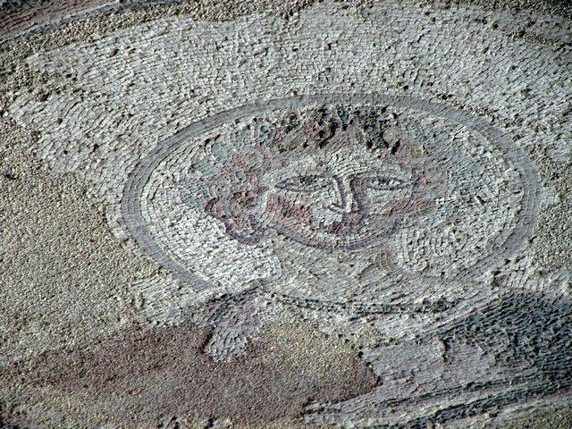 Villa Romana de Carranque. Casa de Materno: detalle del mosaico de la habitación de Materno