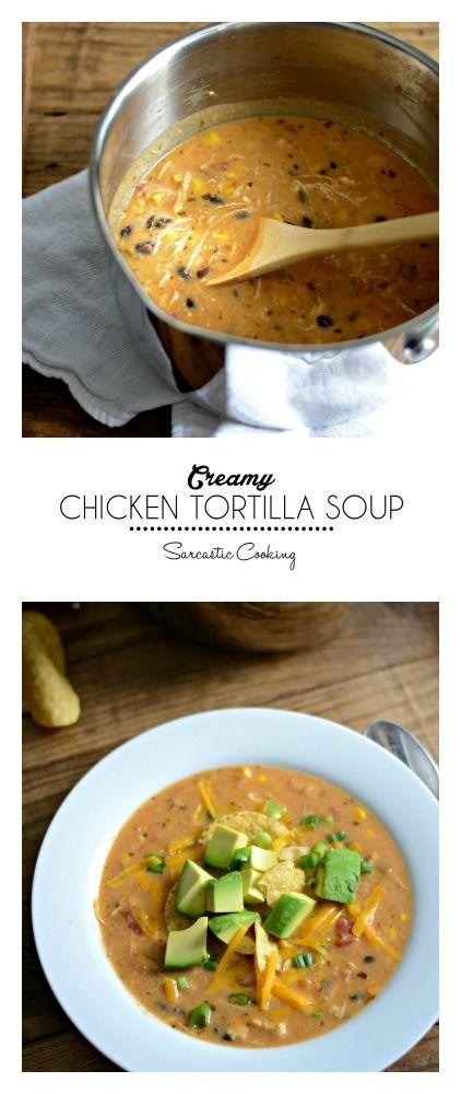 Creamy Chicken Tortilla Soup | Sarcastic Cooking @sarcasticcook