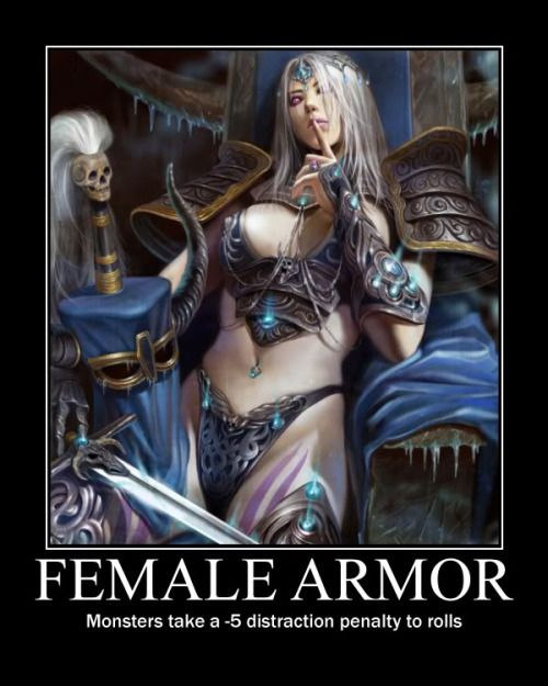 Have Fantasy female armor meme