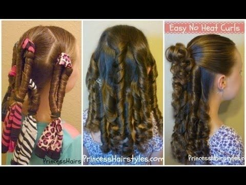 @Kelly Teske Goldsworthy Holbert, for Emma's hair for your wedding? No Heat Curls, Bandana Spirals