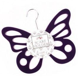 Butterfly Scarf Holder purple