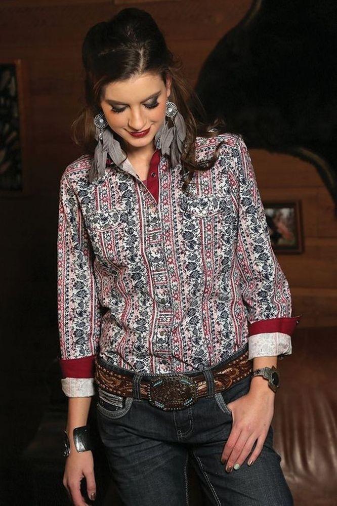 CRUEL GIRL  CTW9365002 RODEO Western ARENA FIT SHIRT COWGIRL NWT SMALL #CruelGirl #Western