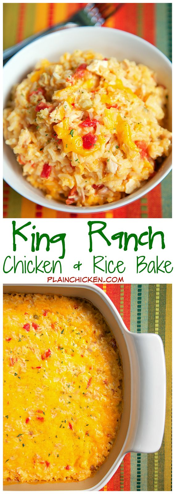 25+ Best Ideas About Chicken Rice Bake On Pinterest  Cheesy Chicken  Casserole, Chicken Rice Casserole And Creamy Chicken And Rice