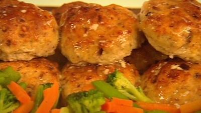 Cheesy Chicken Rissoles