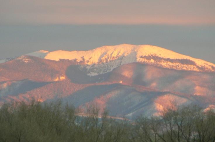 The Sangre de Christo mountains in Espanola. Taken by Bob Gregg
