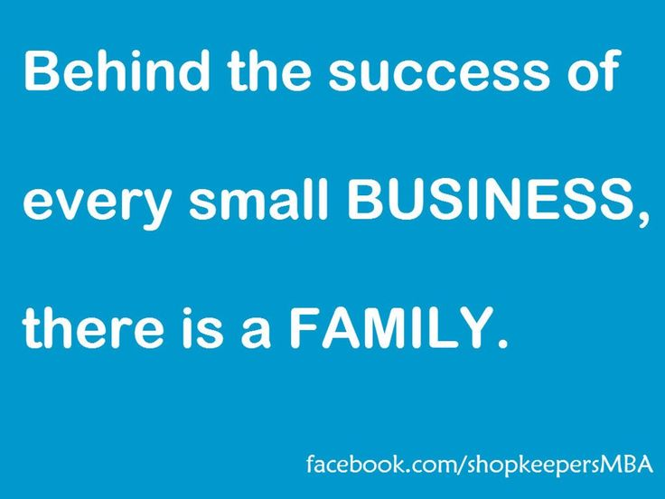 Small Business and Family
