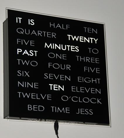 word clockDecor Ideas, Awesome, Random Thingss, Decorating Ideas, Beautiful Hands, Delete 1040 Words Clocks, Handmade Clocks, Clocks Lexerrr, Bedrooms Ideas Decor