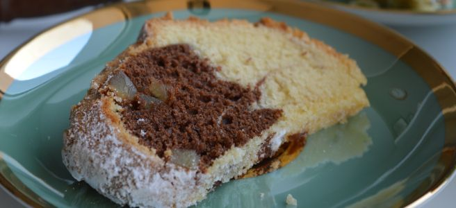Marble Cake with Ginger Bits