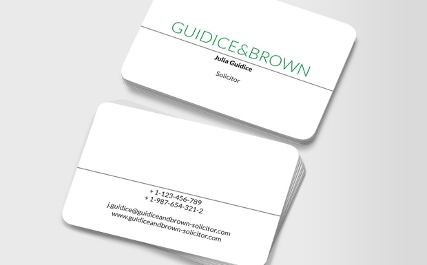 These business cards are simple, direct and unflappable – perfect for anyone who wants to assure clients they'll get the job done with minimal fuss. #moocard #businesscard