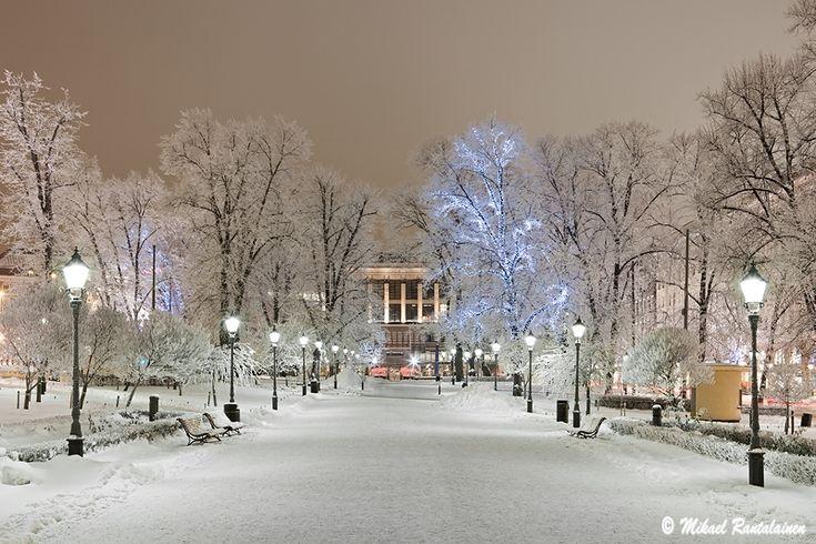 Esplanad in winter.