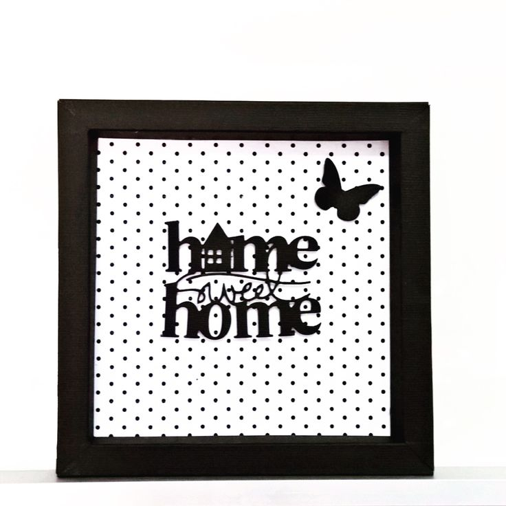 Paper Shadow box-home sweet home