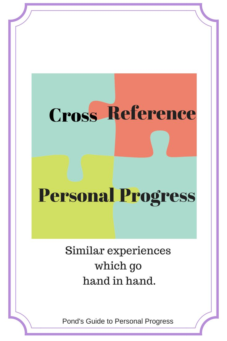 Cross Reference Personal Progress.  Similar exeriences which go hand in hand.  I'm so glad I found this!  This will make passing off expereicnes much easier.