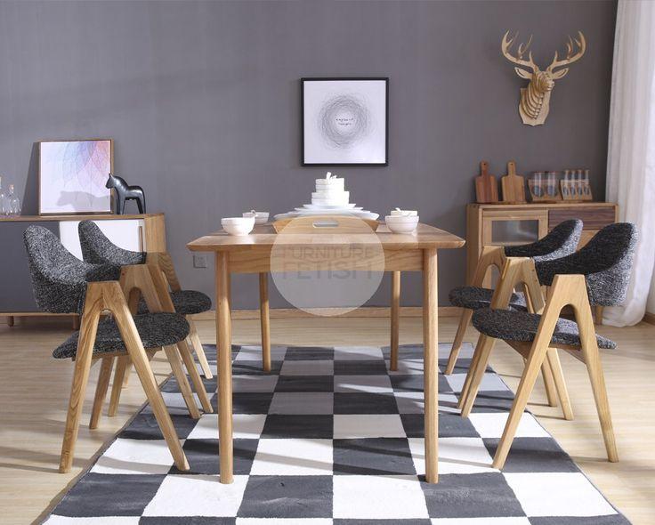 Urban Armchair - Scandinavian Chair Charcoal Weave Ash